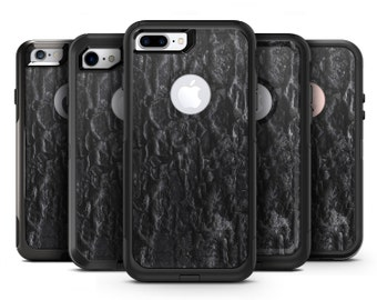 Grungy Black Brick Wall - OtterBox Case Skin-Kit for the iPhone, Galaxy & More