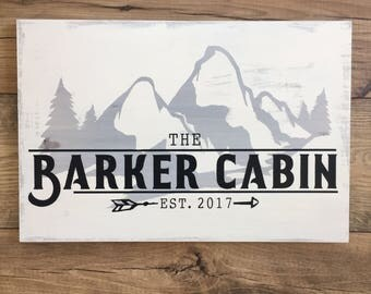 Cabin Sign, Vacation Home Wood Sign, Family Name Wood Sign, Custom Wood Sign, Personalized Wood Sign, Up North Sign, Wooden Sign for Cabin