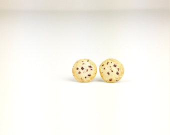 Cookie Earrings, Food Jewelry, Choc Chip Earrings, Studs, Post Earrings, Cookie Jewelry, Earrings, For Her, Gift Ideas,Clay, Cookie, Clay