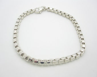 Tiffany & Co. Sterling Silver Venetian Link Bracelet 7.5""