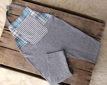 Grey sitter romper, Sitter set, Baby boy clothes, Photography prop, Childs photo prop, Baby boy prop, 12 month photo prop, 9 month romper