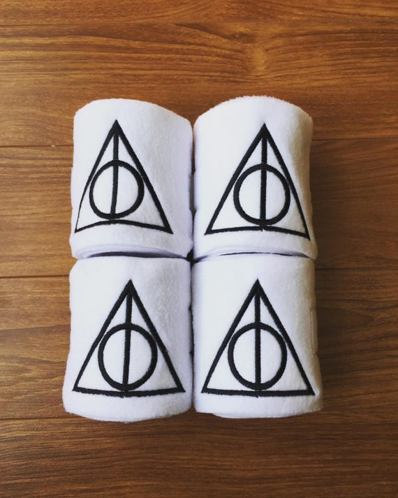 4 Deathly Hallows Embroidered Polo Wraps