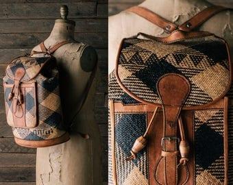 Hand Made Leather Rucksack - Soft Natural Cognac Leather Backpack - Large Shoulder Strap Bag