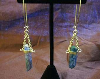 Aurora Quartz Crystal Earrings