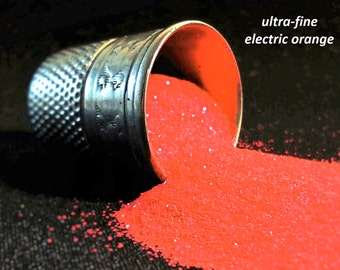 glitter - electric orange ultra-fine polyester