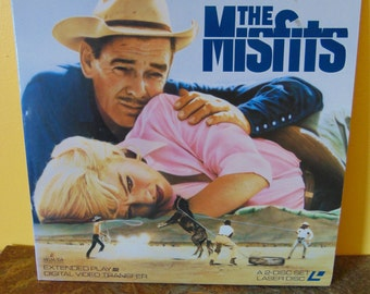 The Misfits  Laserdisc Clark Gable Marilyn Monroe   1990