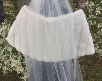Blusher Veil Separate Bridal, Blusher Can Be Worn With Cathedral Veil, Short Veil, Fingertip Veil, White, Ivory, Medium Long, Narrow or Wide