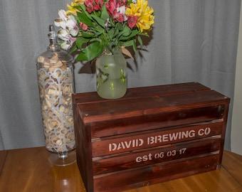 Beer Crate Wedding Card Box