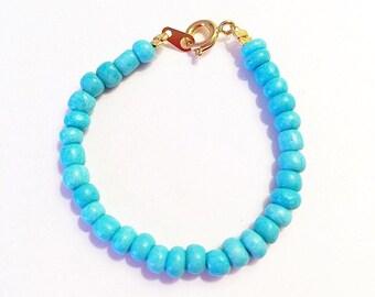 Blair Bracelet // Tiffany Blue Bracelet, Tiffany Blue, Baby Bracelet, Tiffany Blue Baby Girl, Baby Girl Bracelet, Tiffany Blue Baby