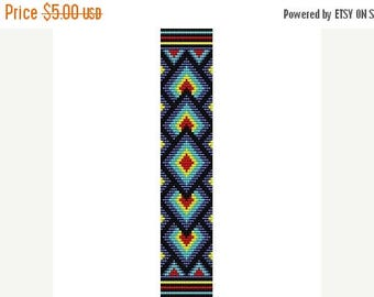 SALE HALF PRICE off Instant Download Beading Pattern Peyote Stitch Bracelet Indian Summer Seed Bead Cuff