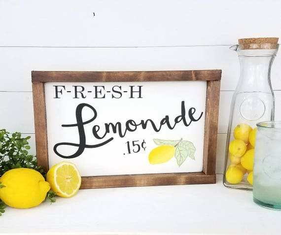 Lemonade Sign Lemonade Summer Signs Summer Decor