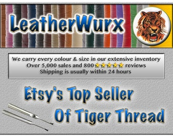 0.6mm Tiger Thread, the BEST for Hand Sewing Leather - Also known as Ritza 25