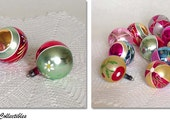 Special Price for Etsy Shoppers! 1 Dozen Beautiful Vintage Glass Christmas Ornaments (Inventory #CH863)