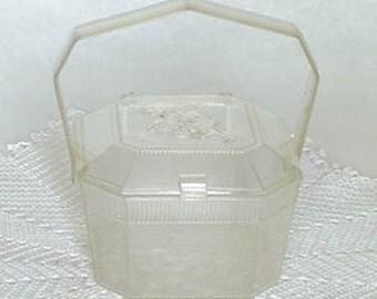 Child's Vintage Clear Plastic Handbag (Inventory #HB149)