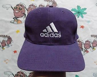 Vintage 90's Adidas Three Stripe snapback Hat, Adult Size adjustable