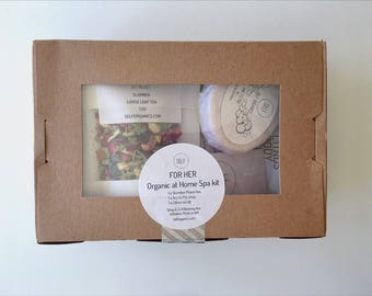 Organic at home spa kits - specially made for you to recreate your own sanctuary