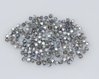 200x SWAROVSKI®  5301/5328 Crystal Bermuda Blue 4mm Bicone Beads,  ***Less Than 5 Cents Each!***