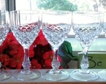 Vintage Crystal Shot Glasses with Ball Stem - Very Pretty!