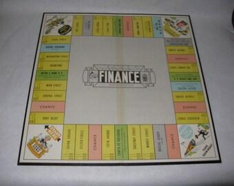 Vintage Finance board game board only Parker Brothers 1958