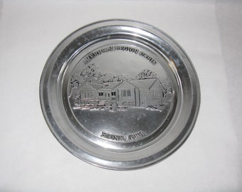 Vintage American Legion Cabin Boone Iowa commemorative metal plate pewter? Wilton Columbia Pennsylvania