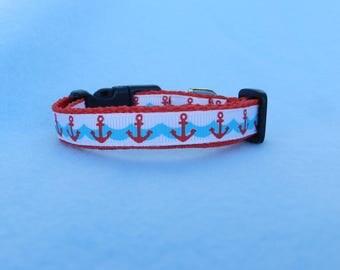 XS Nautical Dog Collar