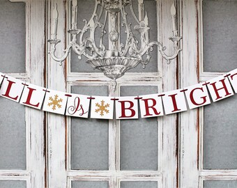 SILENT NIGHT BANNERS, Christmas Decorations, Christmas Mantel Signs