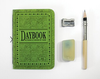 The Daybook  - GRID - Set of 3, 40 page handsewn pamphlets - Travelers notebook refills