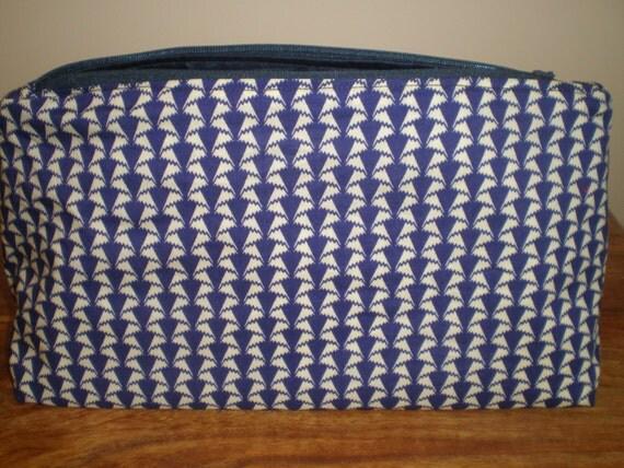 Liberty Fabric  Make Up Bag  'Jonathan' Geometric Design