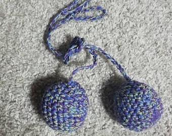 Crochet practice poi, colorful poi, crochet poi, flow prop, crochet flow prop