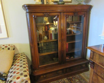 ANTIQUE LIBRARY CABINET or Bookcase