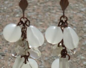 Pair of dangling bead earrings