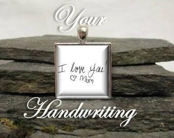 Handwritten Charm, Square Custom Photo Wedding Bouquet Charm, photo charm, Memory charm, memorial charm