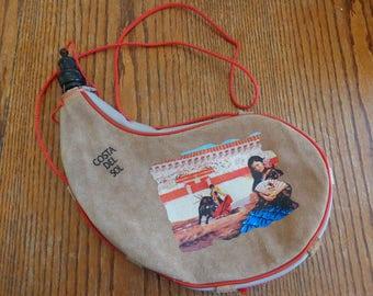 Vintage Bota Bag Vintage Costa Del Sol Vintage Water Flask Tourist Memory Water Skin Vintage Water Bag  Canteen