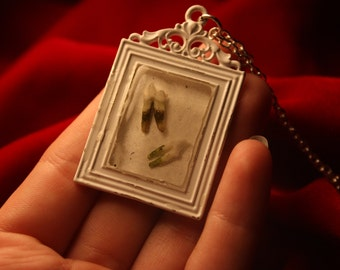 Teeth Picture Frame Necklace.
