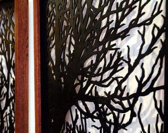 Branches - Tree Shadowbox, Wood, Acrylic Paint