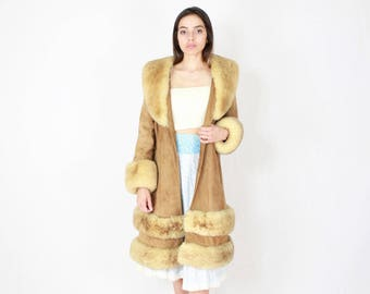 70's Sheepskin Coat // Fur Coat, Fur Jacket, Plush Jacket, Animal Fur, sheep Jacket, suede, Bohmeian Jacket