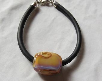 Bracelet rubber bead spun torch