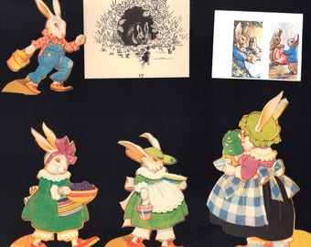 Rabbits, Vintage Paper Pack for Collage, Cardmaking, Mixed Media Art, Easter Spring