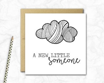 New Baby Mini Card {MONO CLOUDS}
