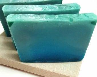 Blue Ocean Soap - Soap for Men - Artisan Soap - Scented Soap - Men's Soap - Soap for him - Blue Soap - Green Soap - Gift Soap - Handmade