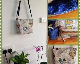 Hot Air Ballon Fabric Sling bag, Fabric Sling bag, Fabric Messenger bag, Fabric Tote bag