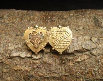 Beautiful 9ct Yellow Gold Mizpah Brooch Pin