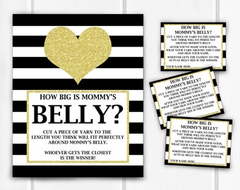 Guess The Size Of Mommy's Belly Game, Belly Guessing Game, Item 260, Item 261