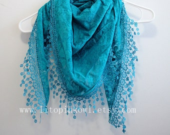 blue lace scarf, lace scarf, fashion scarves, women scarves, for her, mom gifts, mothers day gift, bridesmaid scarf, mom gifts, gift mom