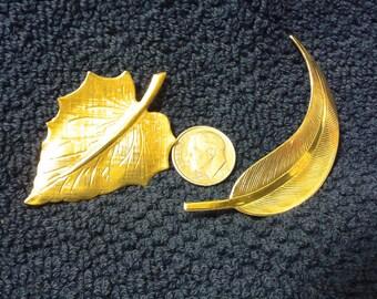 Two Leaf pins