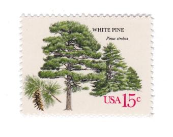 10 Unused Vintage Postage Stamps - 1978 15c American Trees Series - White Pine - No. 1765