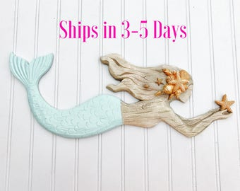 Mermaid Sign Mermaid Decor Bathroom Decor Bedroom Decor Beach Decor Coastal