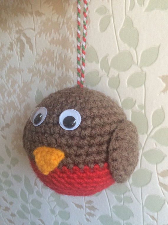 Crocheted Robin Tree Decoration