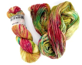 Sock Yarn Superwash Merino/Nylon 85/15 4ply Handdyed Yarn: ORIENT EXPRESS