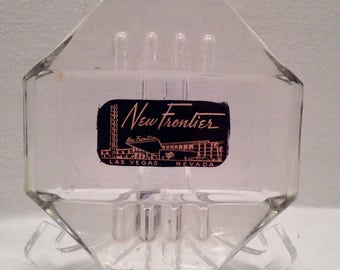 "Las Vegas Souvenir ""New Frontier"" Hotel Ashtray"